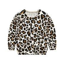 ad220155c6d78 LILIGIRL Bébé Tricoté Léopard À Manches Longues T-Shirt Pull Pour Enfants  Vêtements Garçons Filles Cardigan Coton Manteau