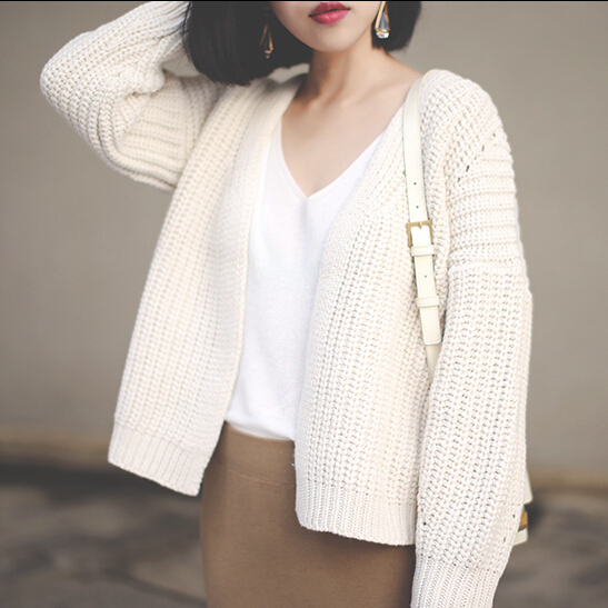 New 2015 Women s Fall Winter Fashion Chunky Knit Short Cardigan Sweater  Original Designer Brand Autumn Elegant Sueter Feminino 8e6de1821