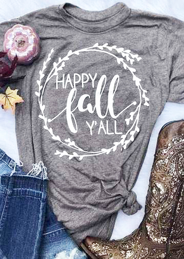 9b0a360b8 Happy fall yall t shirt women graphic slogan autumn new season shirt grunge  tumblr aesthetic shirt casual girl gift tee goth top-in T-Shirts from  Women's ...