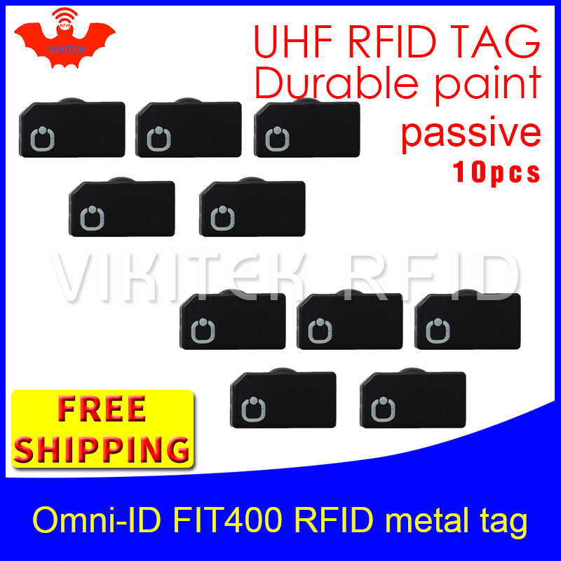 где купить UHF RFID anti metal tag omni-ID fit400 915m 868mhz Alien Higgs3 10pcs free shipping durable paint smart card passive RFID tags по лучшей цене