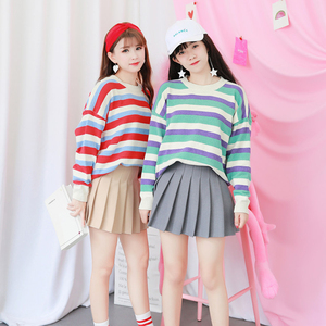 Image 2 - חדש גבוהה מותן קו קפלים חצאיות Harajuku לוליטה אפור לבן שחור אונליין סיילור חצאית קוספליי יפני בית ספר חצאיות אחיד