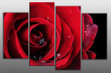 "Good Large Modern Abstract Art Oil Painting Wall Deco Canvas""Red Rose"""