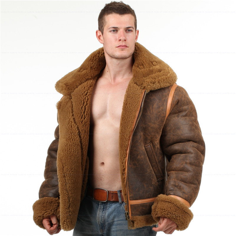 Online Buy Wholesale b3 sheepskin jacket from China b3 sheepskin ...