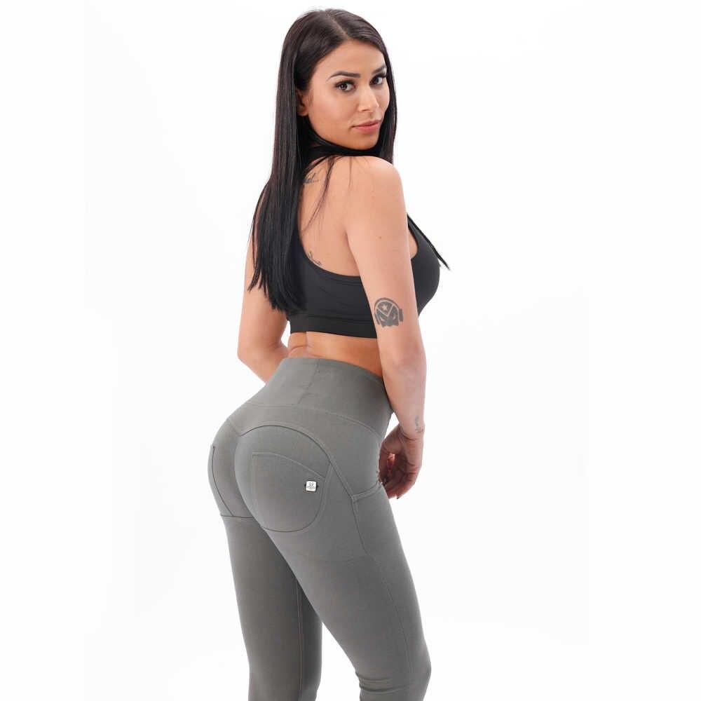 Melody, четыре способа, растягивающиеся штаны для йоги, женские, формирующие, с высокой талией, на молнии, вязаные, длинные штаны, привлекательные пуш-ап леггинсы