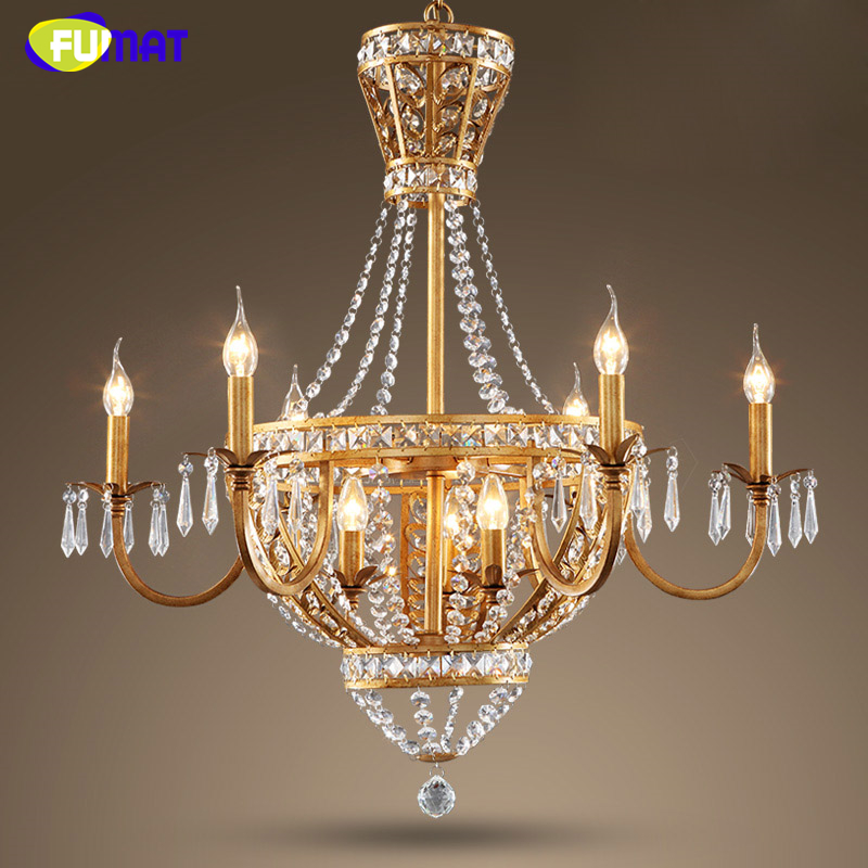 Fumat Led Ceiling Fans Crystal Light Dining Room Living: FUMAT American Crystal Chandeliers Lamp Hanging Lustre
