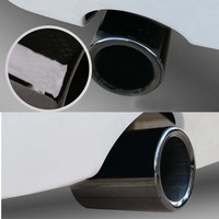 Car Tail Exhaust Tip Pipes Titanium Black For B/MW E90 E92 325 328i 3 Series 2006 2010 Stainless Steel 1 Pair