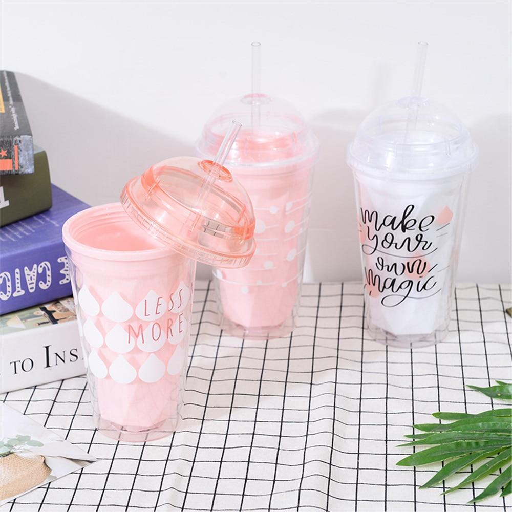 200 ml, antigoteo, linda taza de zumo de leche Botella de agua creativa para verano Newgreen