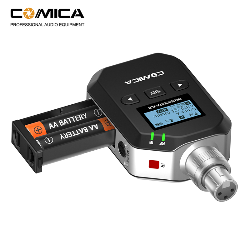 comica uhf condenser microphone 96 channels 60m wireless plug on xlr transmitter for xlr. Black Bedroom Furniture Sets. Home Design Ideas