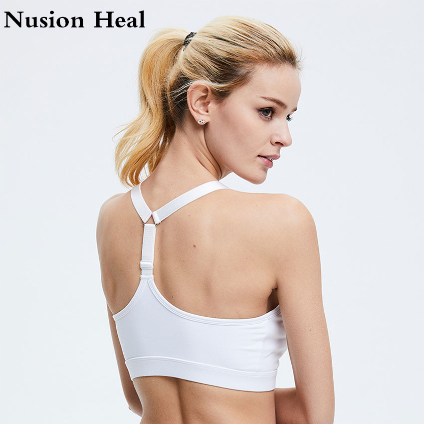 2018 Women Sports Bra High Impact for Fitness Yoga Shirts Running Pad Cropped Top SportsWear Tank Tops Sports Push Up Bra Women
