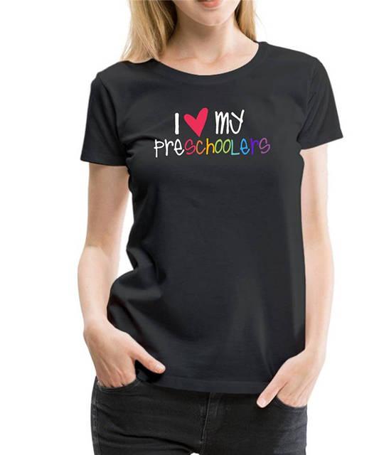 4d5fdeac6 New Design T Shirt Print Women'S 100% Cotton Crew Neck Short-Sleeve I Love  My Preschoolers Teacher Tee