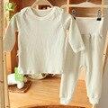 Otoño invierno ropa del bebé fijó 0-24 Meses Recién Nacido del bebé ropa traje pijama pantalones de talle alto contra el frío conjuntos de algodón 100%