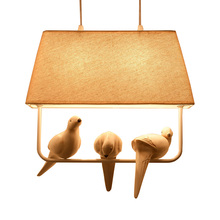 Birds lamp vintage pendant lights Kitchen fixtures resin bir