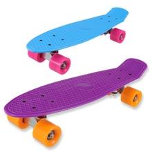 Новый 5 пастельных Цвет четыре колеса 22 дюйм(ов) мини Cruiser скейтборд улица длинные Skate совета Спорт на открытом воздухе для взрослых или детей