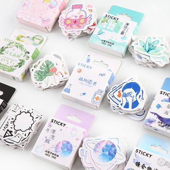 46pcs/pack Green Field Cute Animals Kawaii Paper Stickers Diary Diy Scrapbooking Label Sticker Stationery - discount item  10% OFF Stationery Sticker