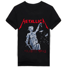 2017 Brand Clothing 100% Cotton MaidenThe Beatles Nirvana T shirt Rock 3D Printed Men's T Shirt Hip Hop Famous Punishers A146