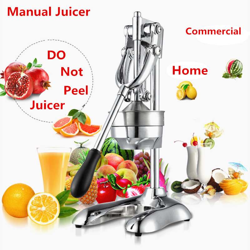 Stainless Steel Fruit Juicer Household Hand Press Manual Juicer Lemon Orange Lime Fresh Juice Tool Squeezer Machine For Home mini portable manual juicer fruit citrus orange juice lemon mixer squeezer watermelon lime juice ginger press hand cooking tool