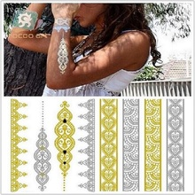 Sale Temporary Tattoo Environmentally Friendly Non-toxic Waterproof Hot Gold And Silver Tattoo Stickers Vt333