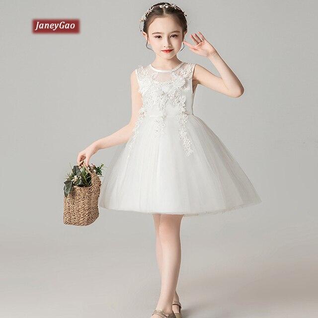 7a0381bc4 JaneyGao flor chica vestidos para boda fiesta ChildrenTulle vestido Formal  concurso princesa vestidos de primera comunión