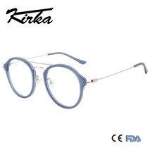 Kirka Round Glasses Frame Men Women Vintage Acetate Prescription Eyeglasses Myopia Optical Spring Hinge Eyewear A17736C6