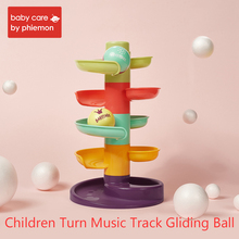 Plastic Tree Marble Ball Run Track Game Children Turn Music Boy Girl Gliding Intelligence Early Educational Toy