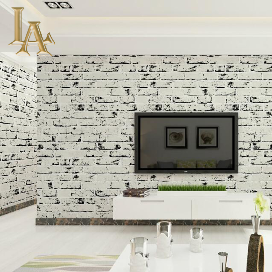 Buy vintage stone brick wallpaper 3d for Living room paper