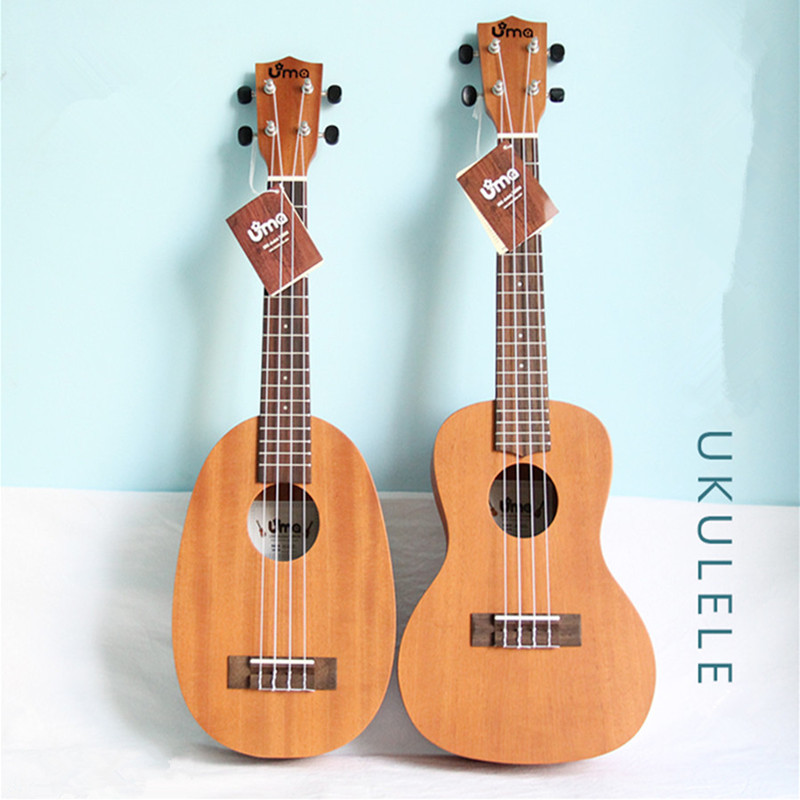 Adult female beginners Ukulele 21/23/26 inch Small Guitar Mahogany Fingerboard Rosewood U002 цена