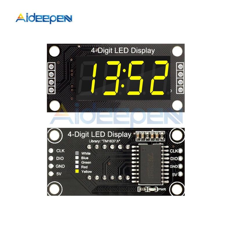 TM1637 4 cifre digit LED Display Modulo Clock Orologio Timer Arduino seriale