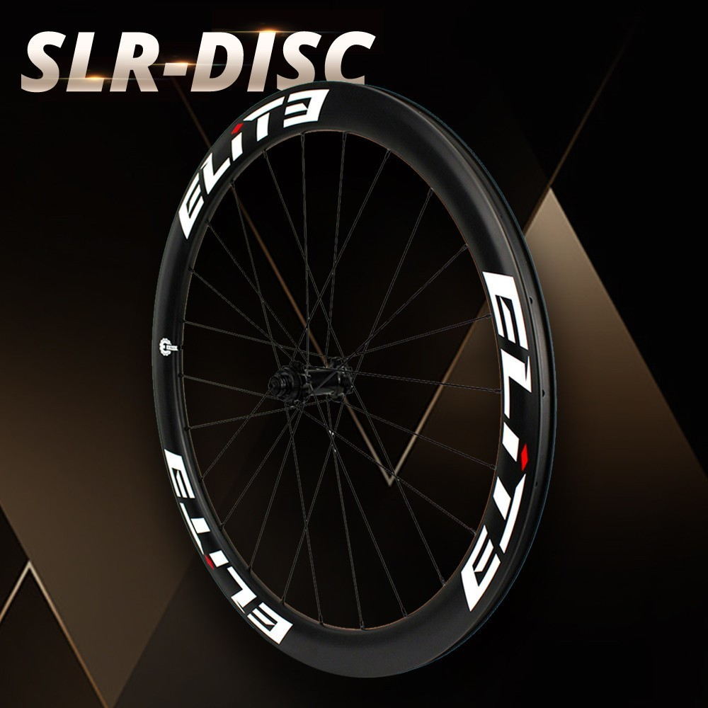 Elite SLR 700c Gravel Cyclocross Wheelset Bicycle Tubular Clincher Tubeless Low Resistance Disc Brake Hub Carbon