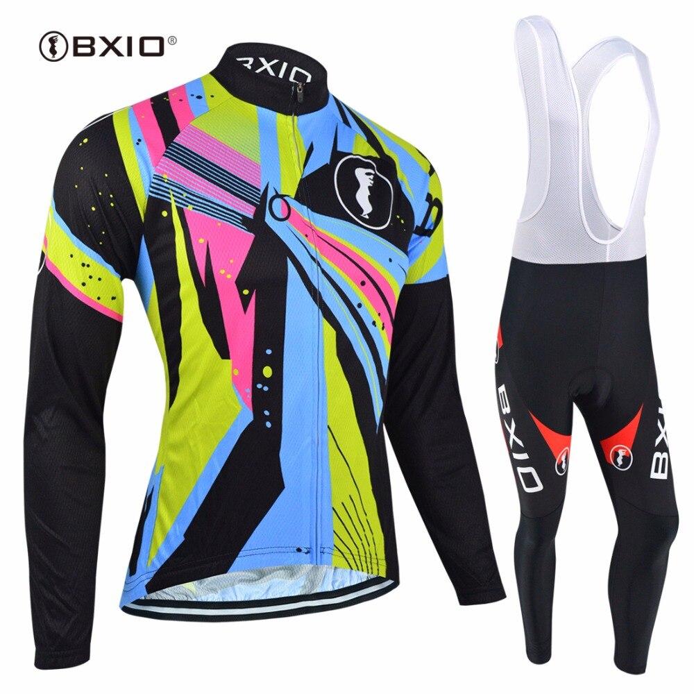 BXIO hiver vélo ensembles chaud à manches longues cyclisme vêtements Pro équipe vélo vêtements Invierno Roupa Ciclismo vtt Cycle ensemble 054