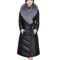 Plus Size 4XL Warm Faux Sheepskin Coat Winter Women Jacket Leather High Quality fur Collar Warm female Coat Slim Fashion Parker