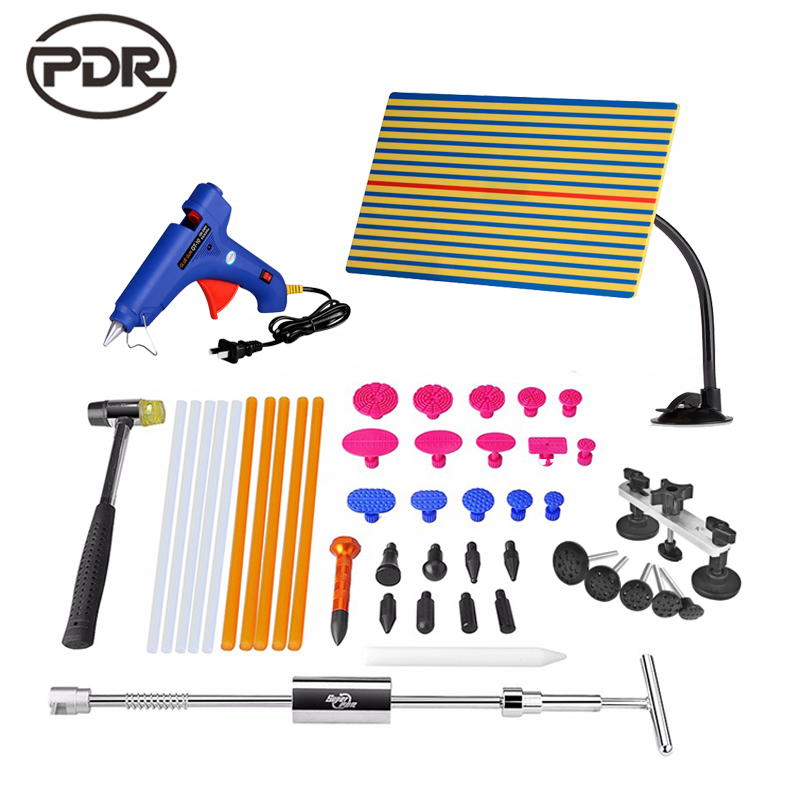 PDR Tools Set Car Dent Repair Tool Dent Removal Paintless Dent Puller Kit Pulling Bridge Dent PullerTabs PDR Kit Ferramentas