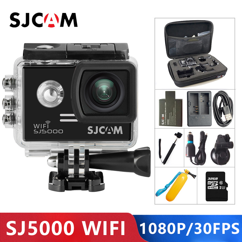 SJCAM SJ5000 caméra d'action WiFi 1080 P Full HD Sports DV 2.0 pouces plongée 30 M étanche mini caméscope Original SJ 5000 Sport Cam