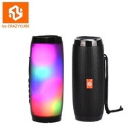 CrazyCube Pulse LED Wireless Portable Bluetooth Speaker better than jbl with fm radio 10W dual passive bass surround stereo