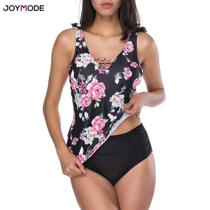 bf18032165 JOYMODE Swimwear 2018 Sexy Swimsuit Women Tankini Set Swim Suit Print Beach  Wear Bathing Suit Padded