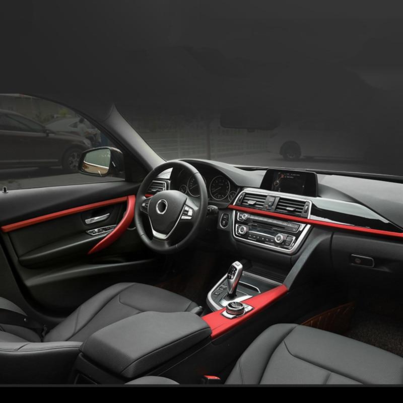 Auto Console Cruscotto Pannello di Decorazione Adesivi Copertura Maniglie Delle Porte Trim Per BMW 3/4 serises F30 F32 3GT F34 Accessori Interni