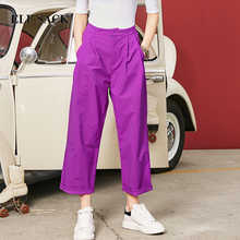 ELFSACK Autumn New Fashion Women Pants Pockets Womens Loose Casual Female Mid Waist Pant Females Korean Style Retro Chic - DISCOUNT ITEM  20% OFF All Category
