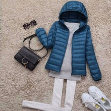 Tengo Brand Spring Autumn Winter Women Parka Ultra Light Down Parka 90% White Duck Down Jacket Women's Hooded Coat Down S–4XL