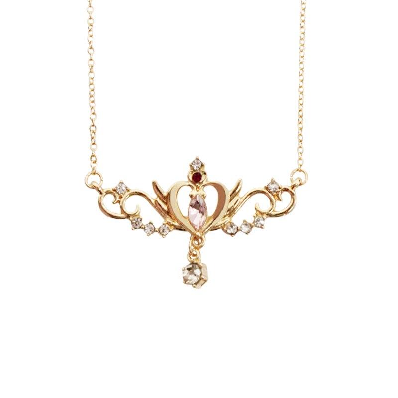 Schmuck & Zubehör Aufrichtig Mode Schmuck Zubehör Strass Sailor Mond Karte Captor Flügel Herz Halskette Rheuma Lindern Choker Halsketten