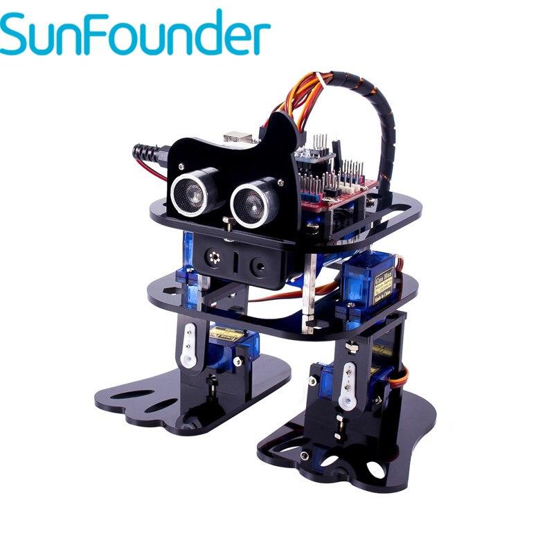 SunFounder DIY 4-DOF робот комплект-лень обучения комплект для Arduino Nano DIY робот