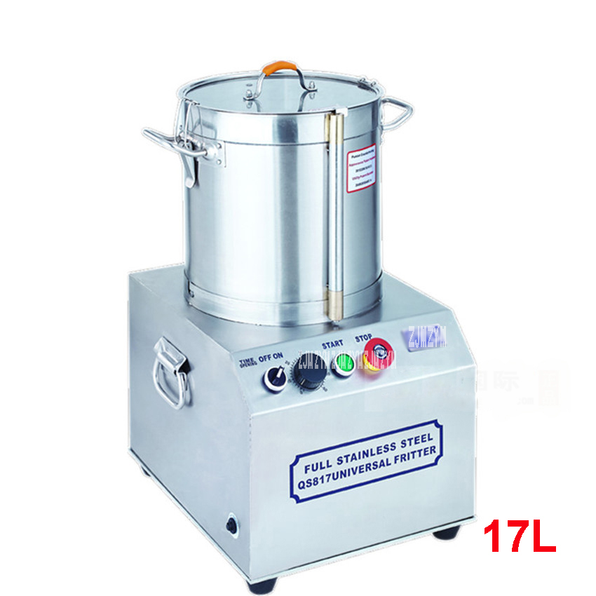 QS817 17L Commercial Food Processor Stainless Steel Meat Vegetables Fritter Cutter Slicer Food Processors 750W Power