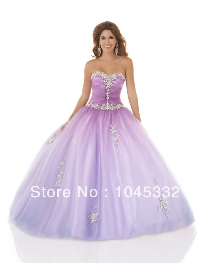Floor Length Organza Ball Gown Appliques with Beading Simple Light ...