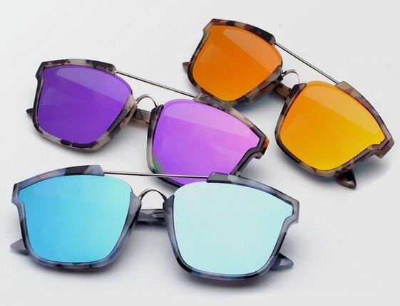 aad7fc30b981 2016 New Flat Top Retro Cat Eye Sunglasses Cosy Shades Men Women Designer Eyewear  Glasses Oculos sun Rose Gold!