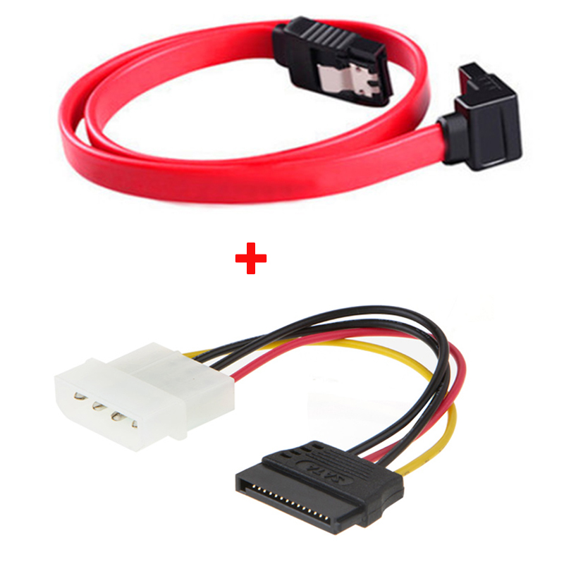 High Speed Sata3.0 sataIII cable Straight Right Angle 6Gbps 3.0 6GB/s III SATA 3 Cables & sata power cable for SSD HDD 2pcs high quality hdd ssd sata3 0 iii 6gb 50cm straight cables right angle cable serial ata hard disk data line soft beautiful