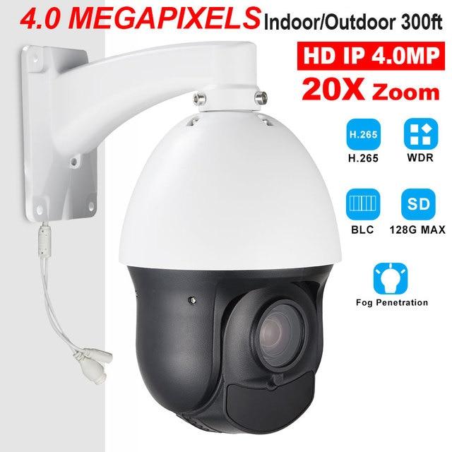 "CCTV Security Outdoor IP66 4"" Mini H.265 H.264 High Speed Full HD IP 4.0MP 4MP PTZ Camera 4 Megapixels 20X Zoom ONVIF W/ SD Slot"