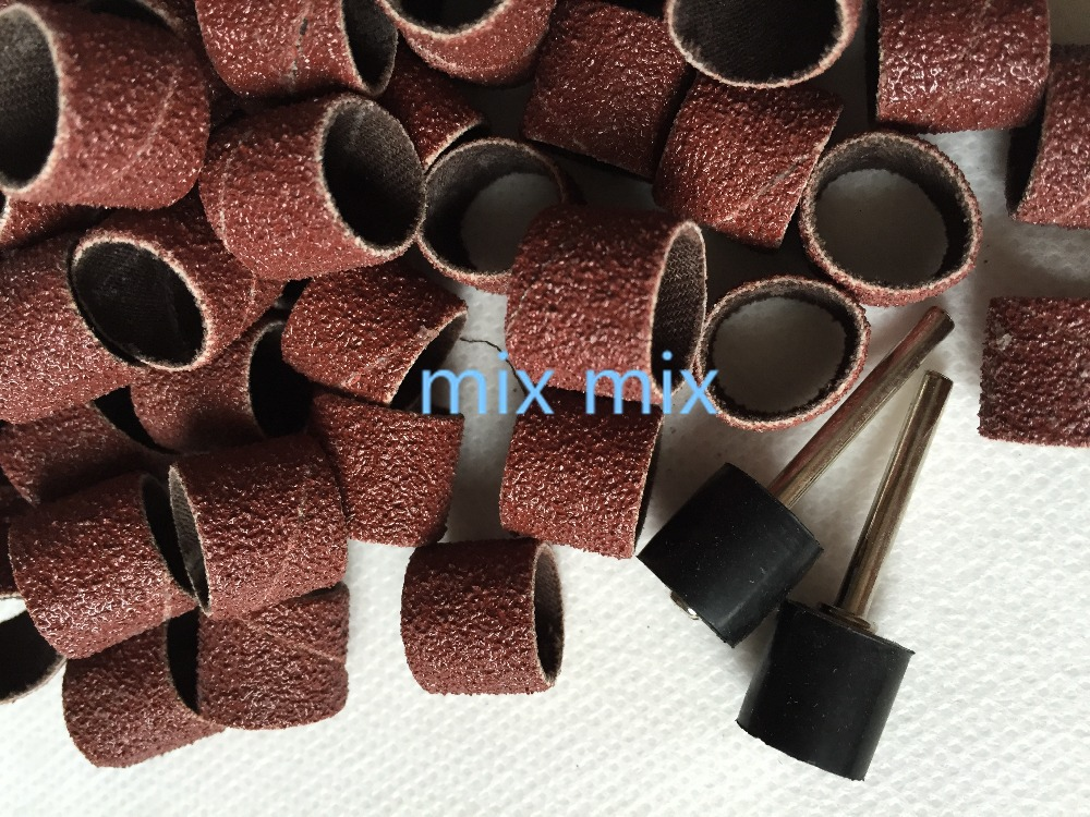 Fixmee 100pcs Lot 12 7mm Sand Bands Fine Grit 80 Sanding