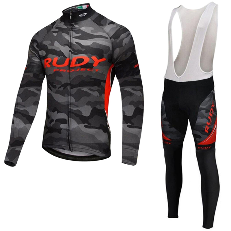 New Brand Team Long Sleeve Cycling Jersey Bib Pants Set Long Sleeve Ropa Ciclismo Men Spring Quick Dry Bicycle Cycling Clothing