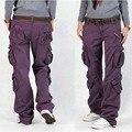 Mulher Calças Da Carga Calças de Algodão Solto Plus Size Feminina Harem Pants Hip Hop Calças Do Exército Das Mulheres Calças Perna Larga Casuais