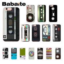 Babaite retro music tape game console 80s estético caso de telefone para iphone 8 7 6 s 6 plus x xsmax 5 5S se xr 10 11 11pro 11promax(China)
