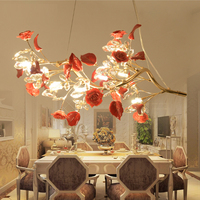 European Style Rural Retro Pendant Light Garden Luxury Villa Living Room Dining Room Crystal Pendant Lights