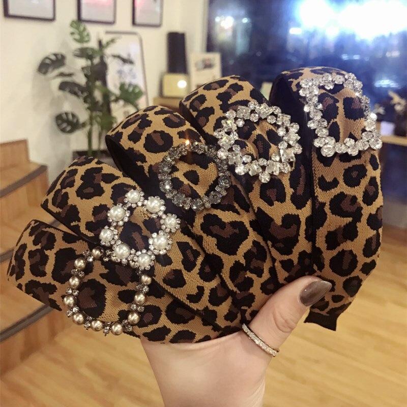korea leopard print hair bands
